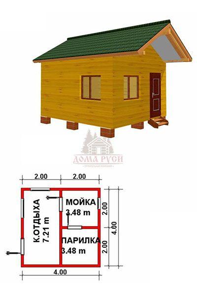 Баня 3х4 под ключ: популярные материалы, расположение на участке, планировки и цены в москве