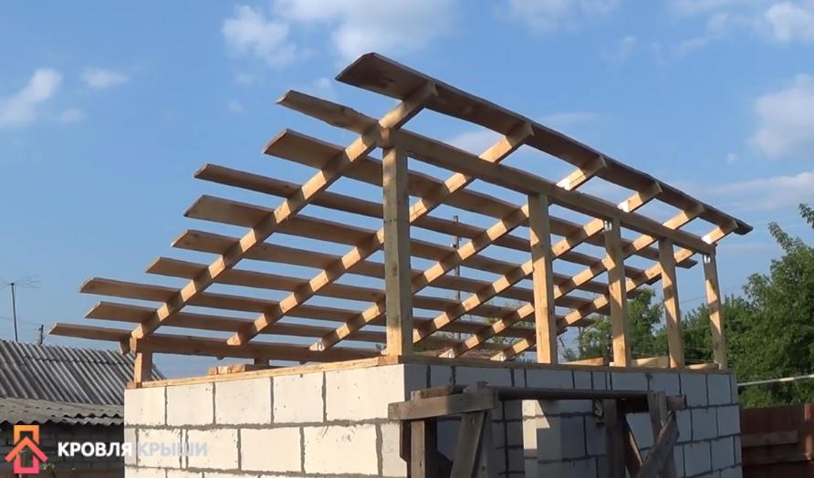 Как строится односкатная крыша своими руками: пошаговый монтаж и выбор кровельного материала