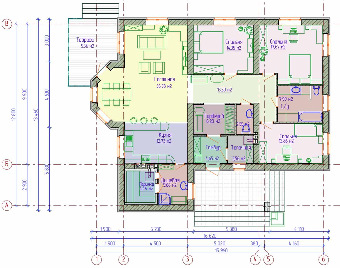 Проекты одноэтажных бань: преимущества, фото, идеи   построить баню ру
