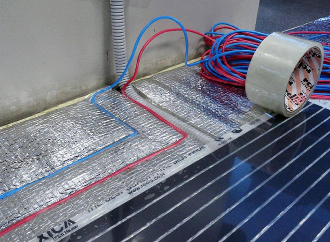 Электрический теплый пол под ламинат: укладка своими руками
