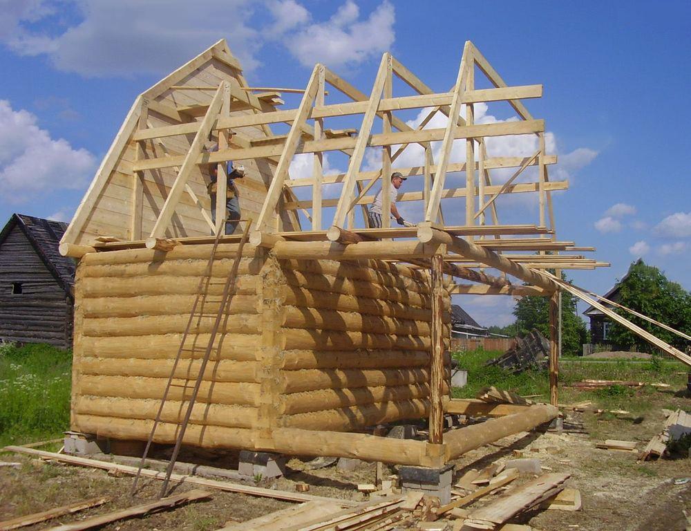 Как сделать крышу с мансардой для бани