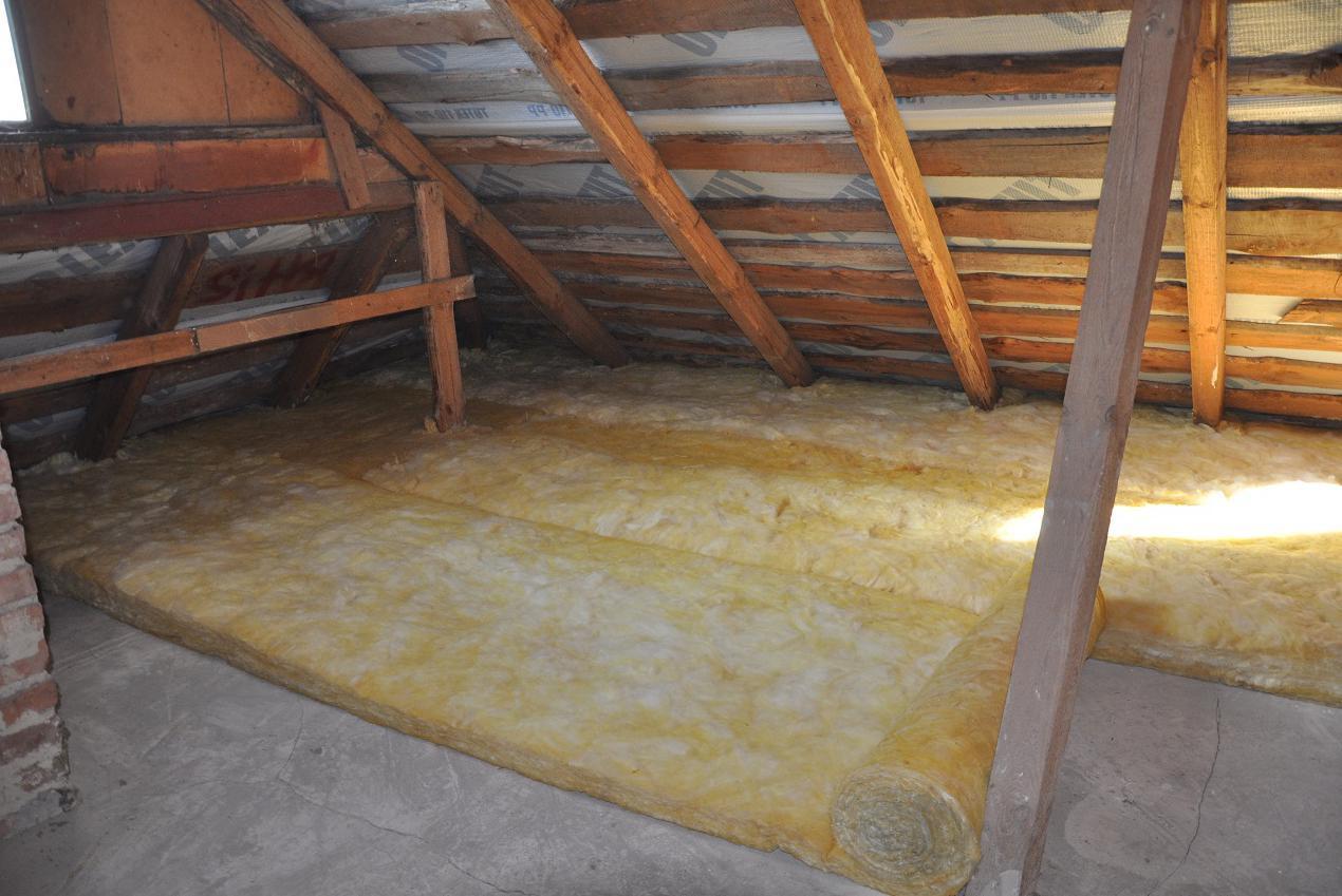 Способы утепления потолка бани землей