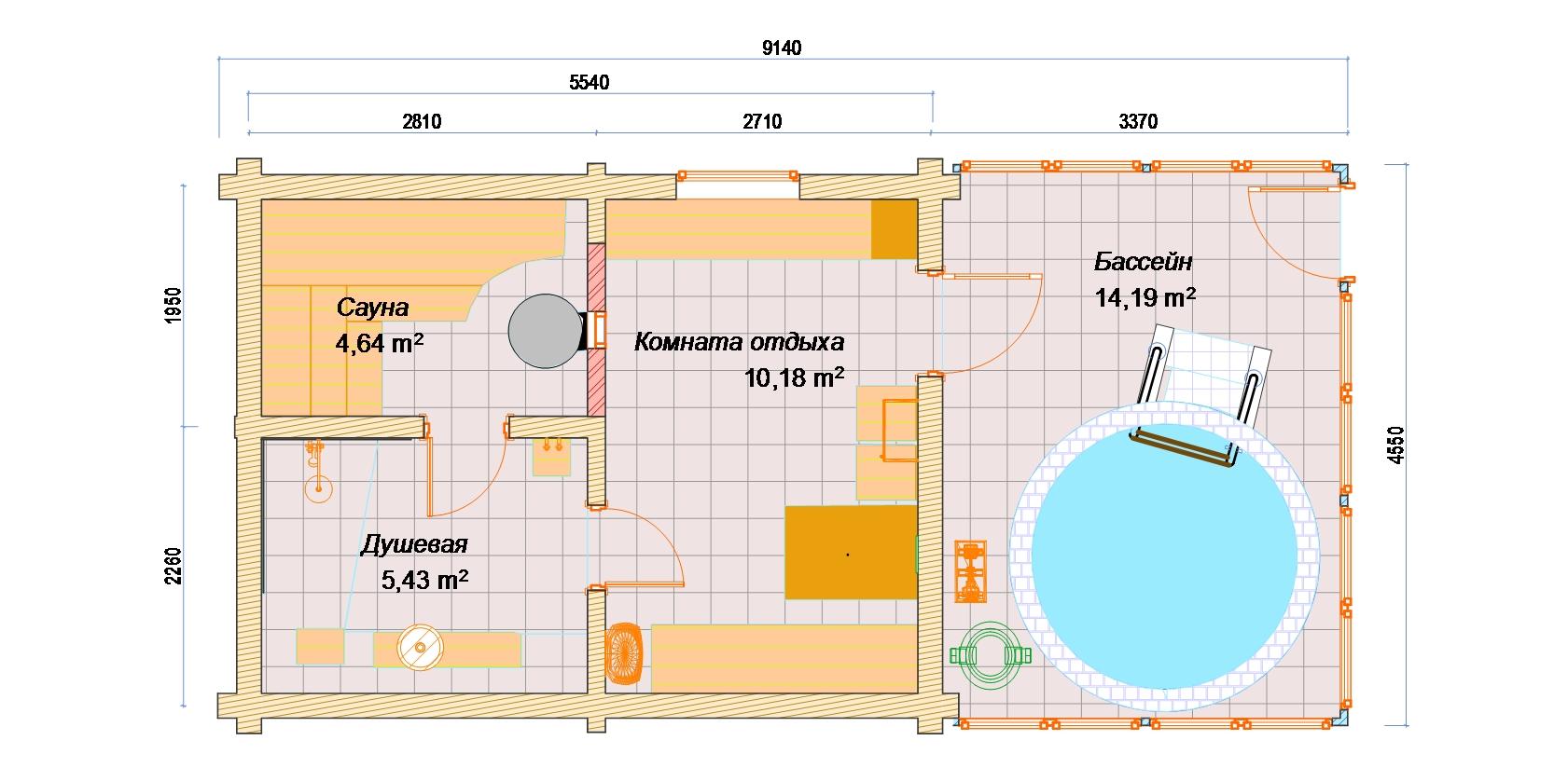 Баня с бассейном: обзор технологии строительства + примеры проектов