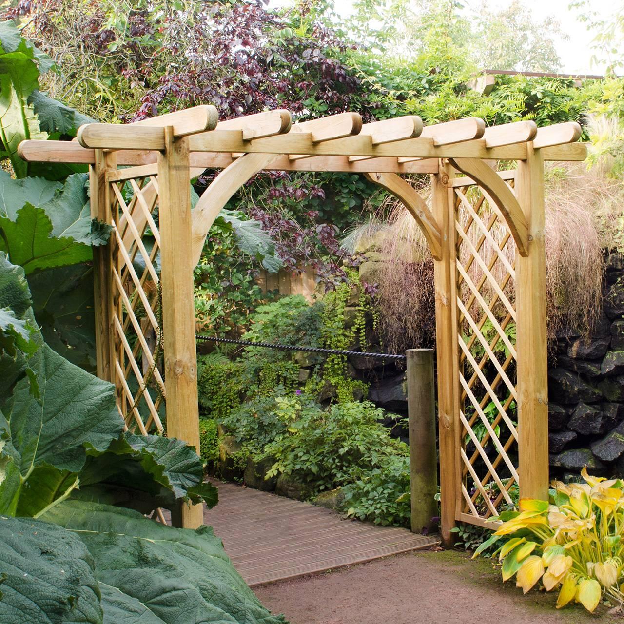 Пергола своими руками: как сделать садовую арку для дачи, инструкция, фото дизайнов – кошкин дом