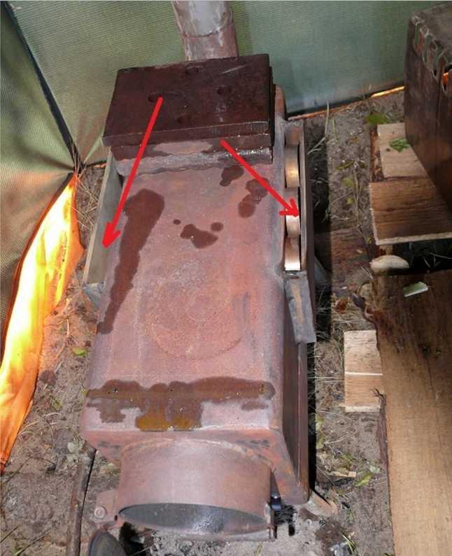 Походная печь своими руками, схема + видео инструкция