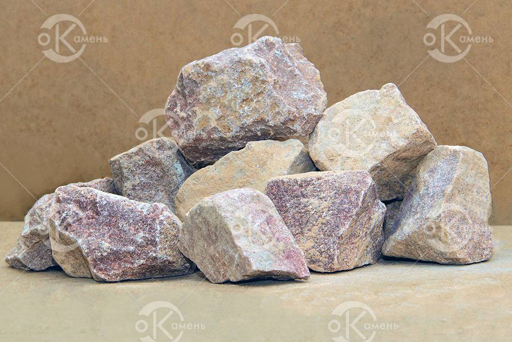 Камни для бани — малиновый кварцит и белый кварц, их свойства, преимущества и мифы