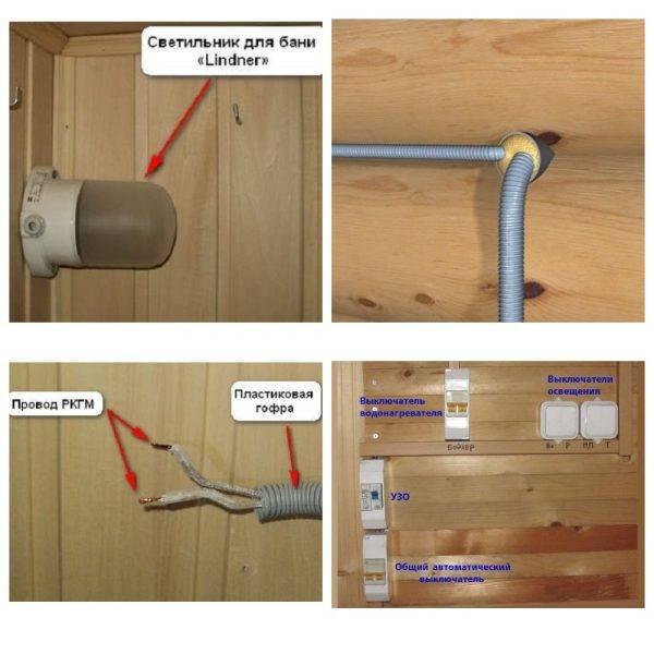 Безопасная проводка в бане своими руками — пошаговая инструкция