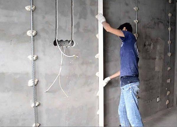 Тонкости отделки стен: установка маяков для штукатурки своими руками