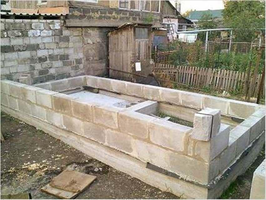 Доступная баня из пеноблоков своими руками
