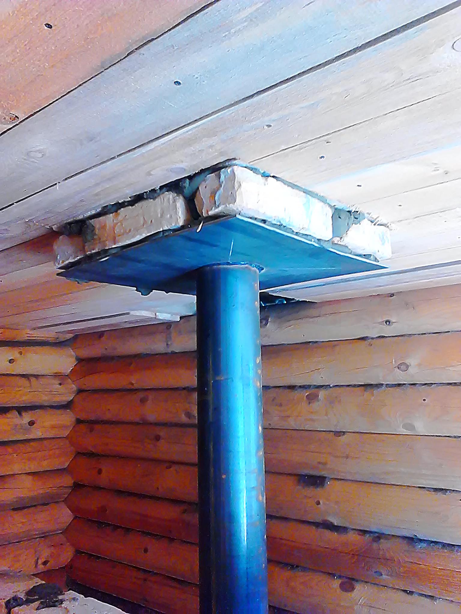 Установка печи на деревянный пол в бане: расположение и монтаж