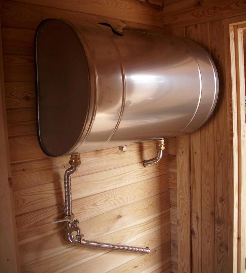 Какой выбрать бак для воды в баню?
