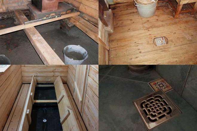 Отвод и слив воды из бани - устройство и конструкционные особенности