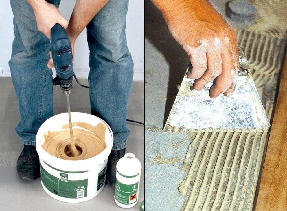 Изготовление клея для плитки своими руками, рецепты изготовления, состав и достоинства такого клея