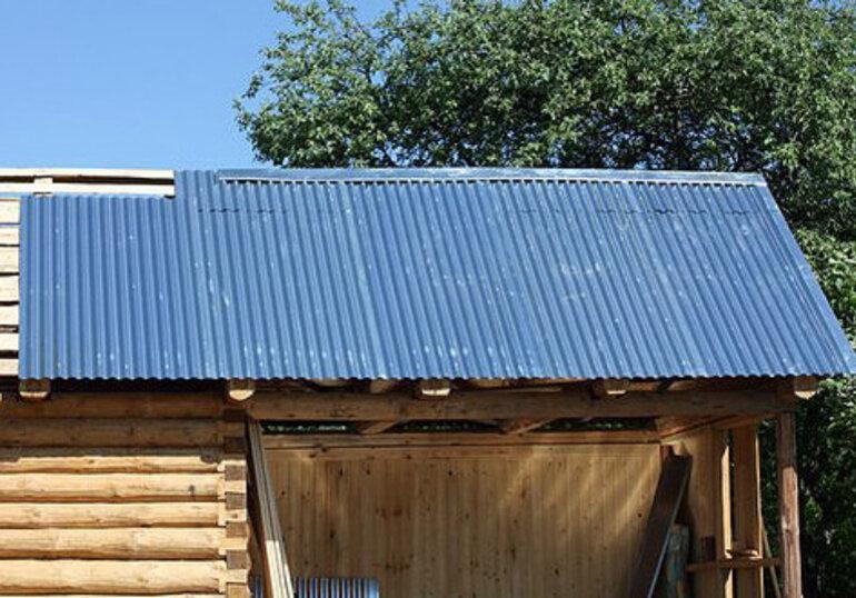 Крыша бани: 90 фото правильной постройки своими руками