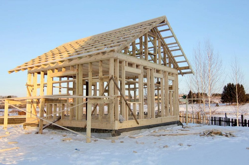 Строительство дома зимой | блог прораба олега клышко