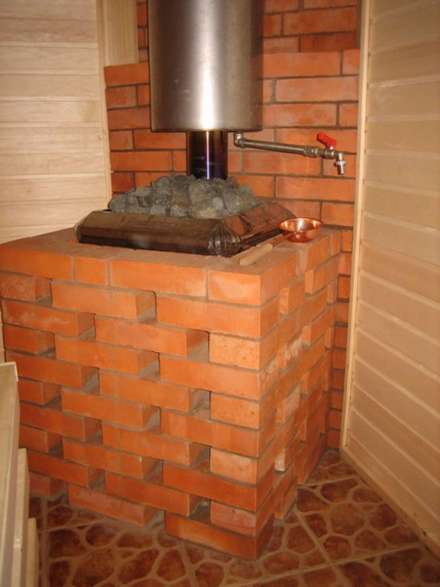 Как обложить металлическую печь в бане кирпичом: советы и решения
