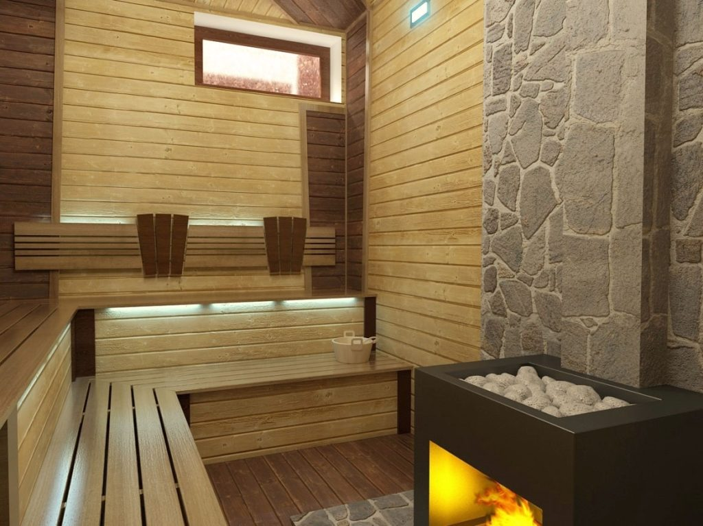 Внутренняя отделка бани: парилка, душевая и комната отдыха