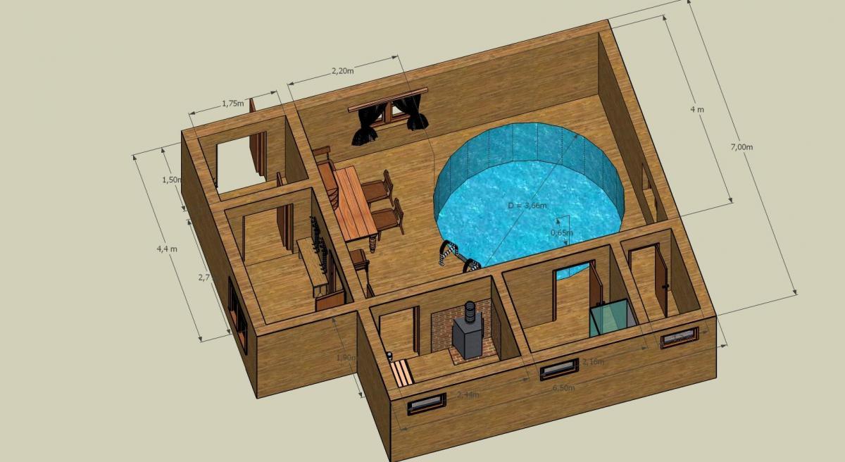 Описание и поэтапный показ строительства: выбор материала, строим баню своими руками