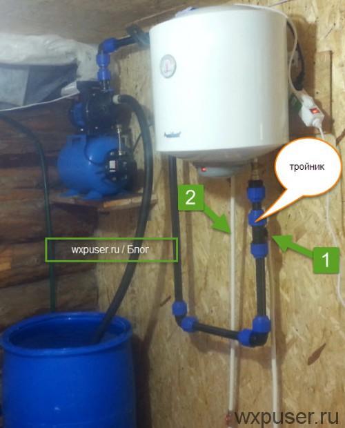 Душевая система в бане бочке: конструкция, фото