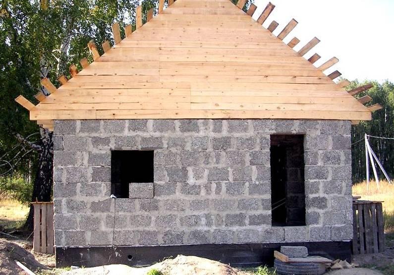 Баня из пеноблоков: особенности конструкций