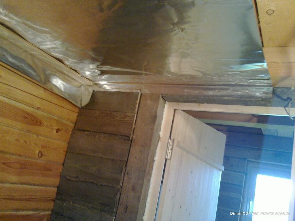 Грамотно утепляем потолок в бане своими руками