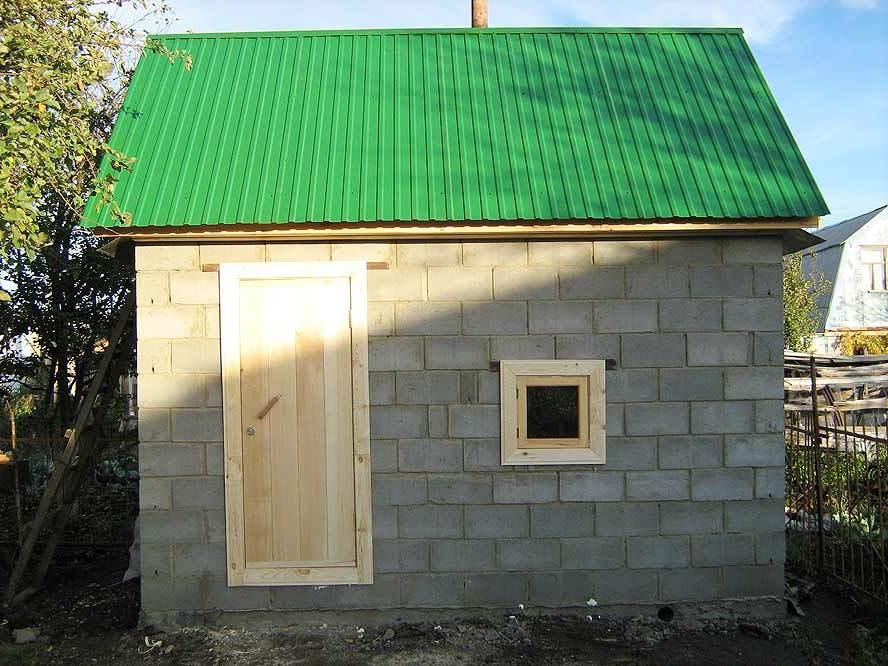 Фундамент для бани из блоков