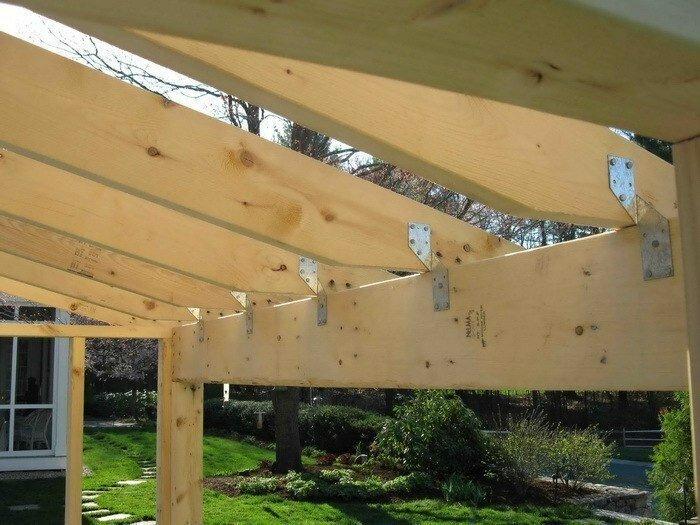 Монтаж и сехмы стропильной системы односкатной крыши