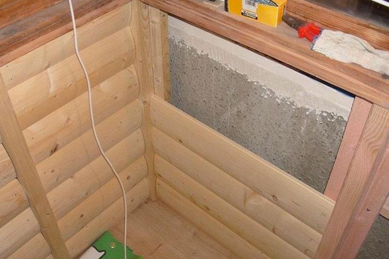 Обшивка стен каркасного дома блок-хаусом