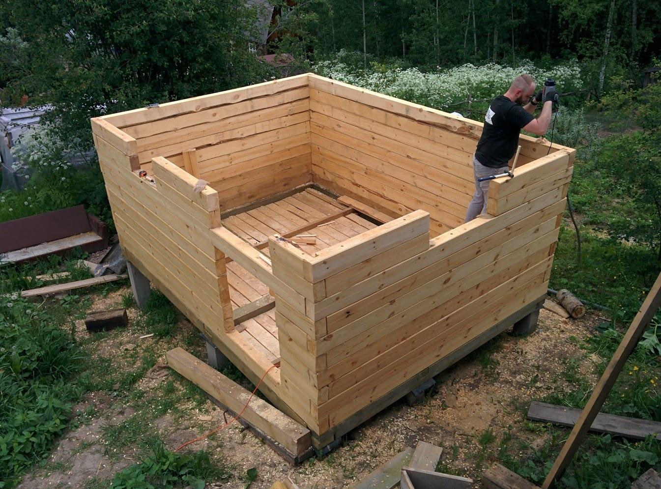 Из чего лучше строить баню: из каких блоков, какого дерева, бруса, леса, материала