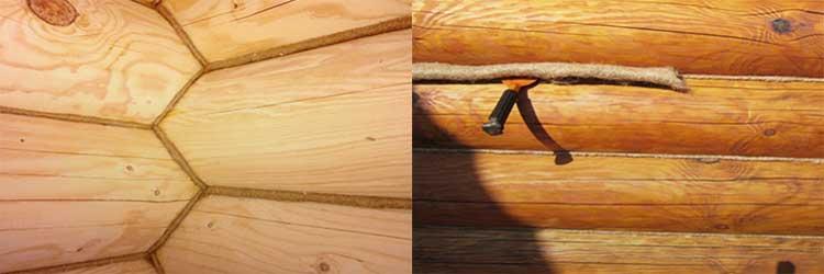 Конопатка сруба: способы – традиционные и современные, технология работ, тонкости