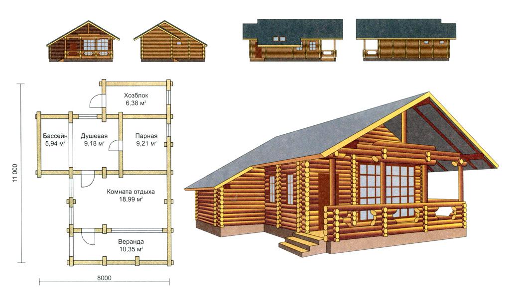 Как выгодно совместить баню и летняя кухню под одной крышей?
