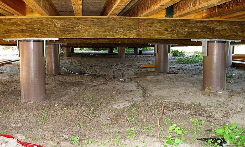 Сваи под фундамент бани