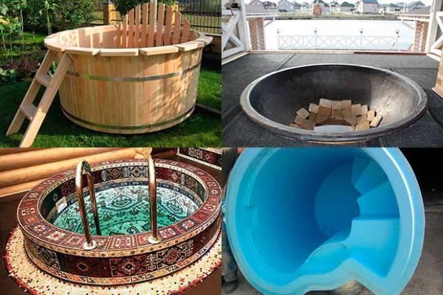 Купели для бани: назначение, разновидности, изготовление из различных материалов своими руками