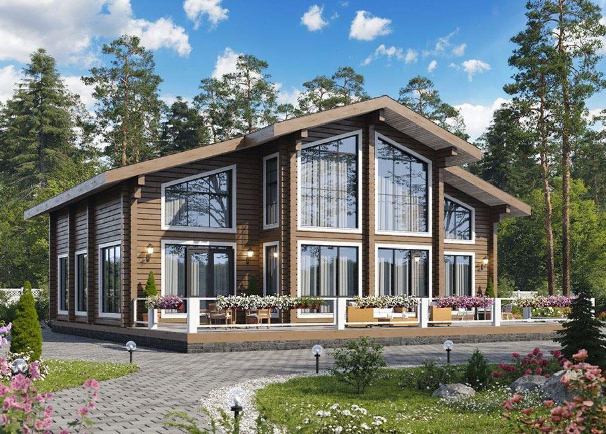 Проекты домов из клееного бруса: основные виды и ориентировочная стоимость