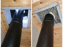 Как своими руками сделать дымоход в бане через потолок