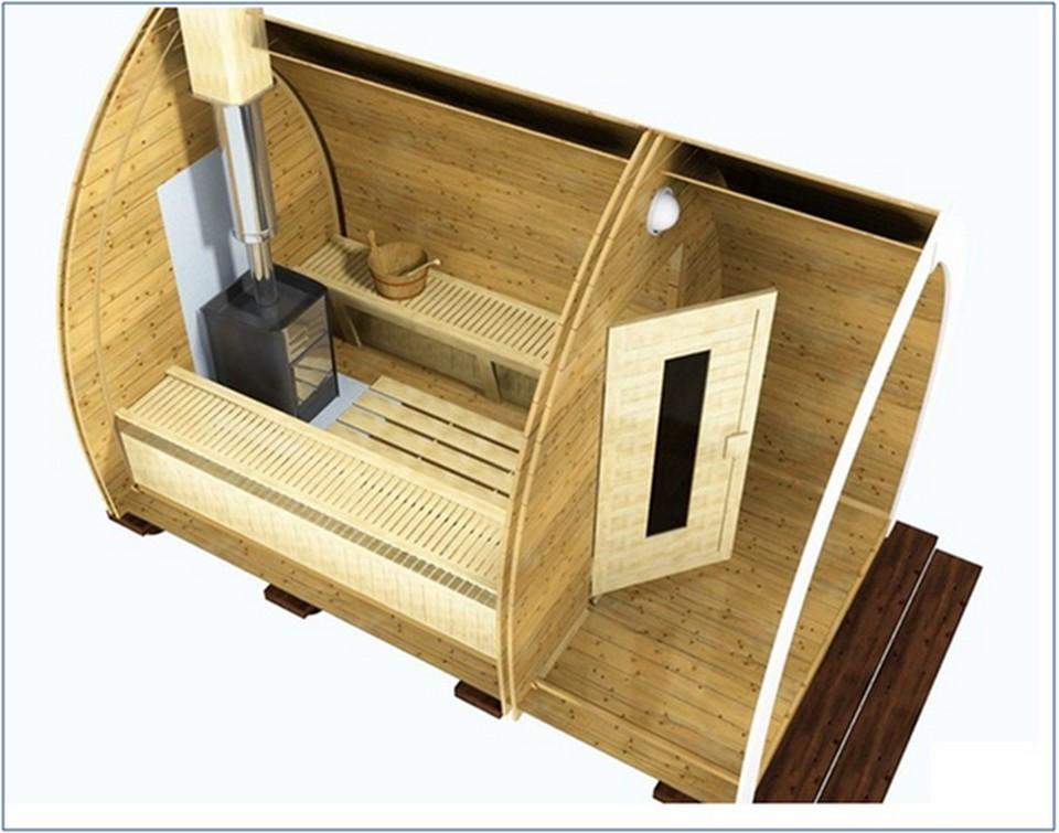 Баня-бочка — особенности конструкции, варианты форм и материалов для внутреннего и внешнего обустройства + поэтапная инструкция по установке своими руками
