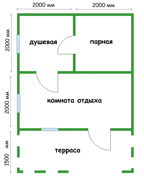 Модификации проекта бани 4 на 5 метров