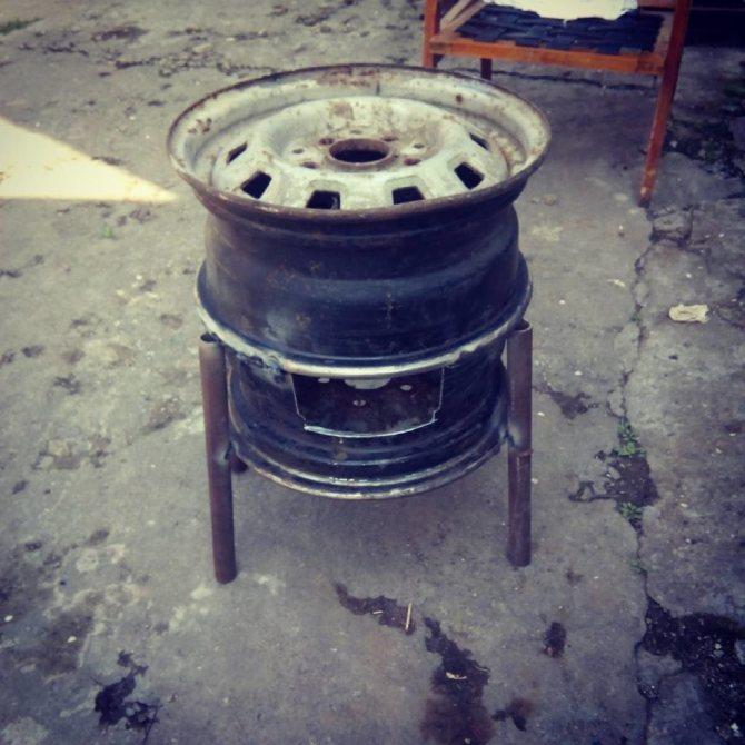 Преимущества и недостатки самодельной печки в гараж из дисков