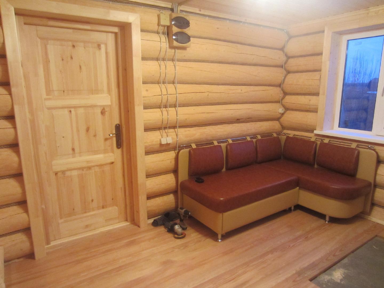 Внутренняя отделка бани из бруса - строим баню или сауну