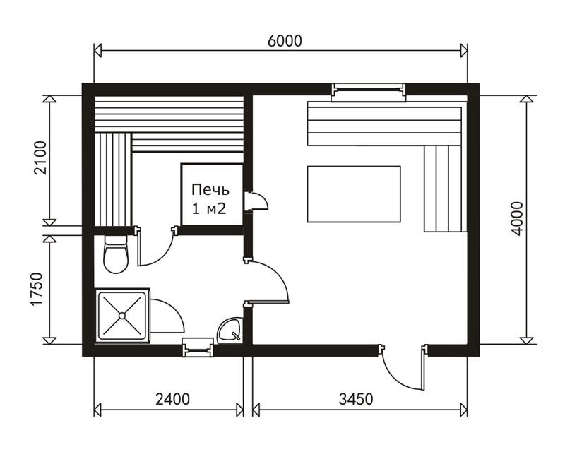 Как построить баню 3х4 дешево — по шагам