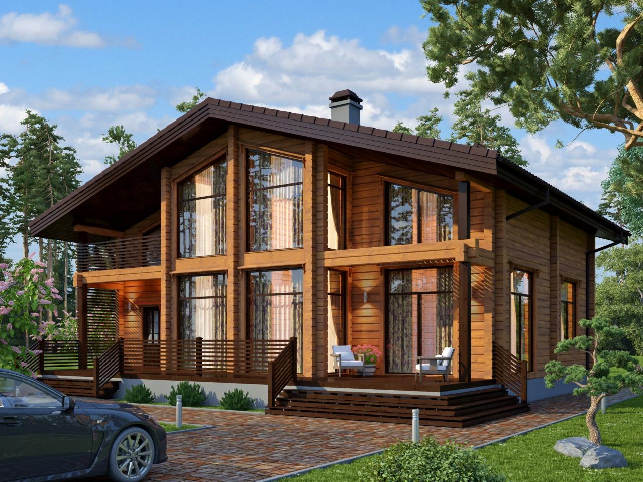 Сколько стоит построить дом из клееного бруса