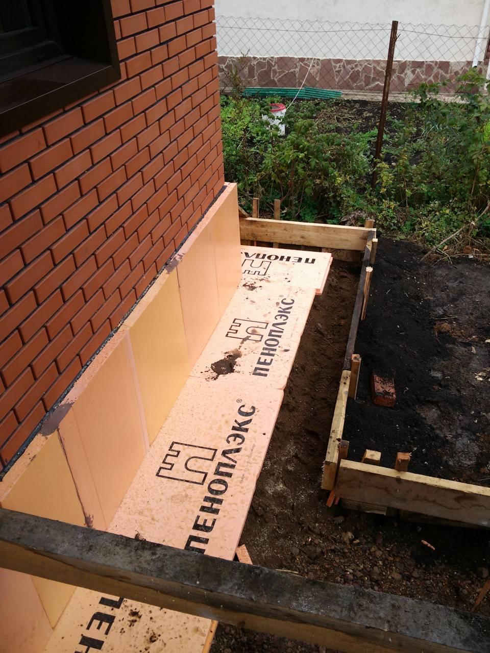 Как утеплить фундамент дома пеноплексом своими руками — жми!