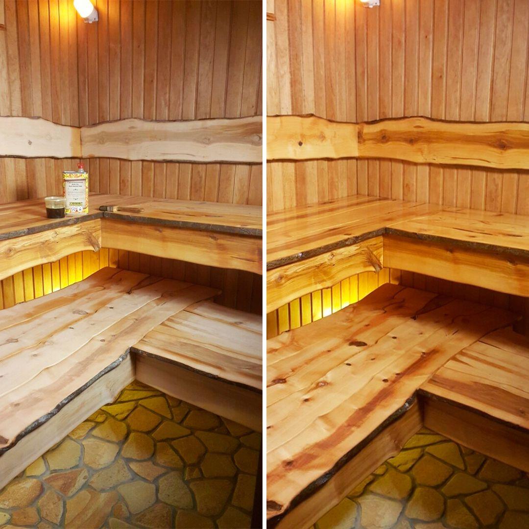 Масло для дерева в бане