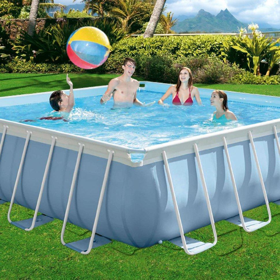 Какой бассейн выбрать для дачи: каркасный или надувной?