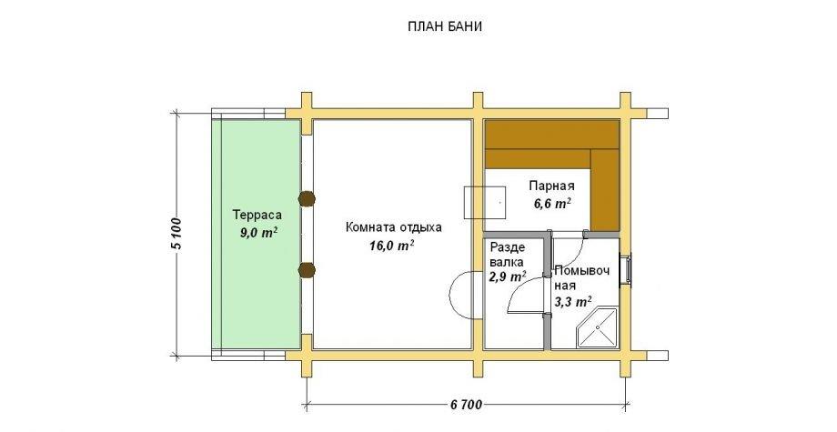 Проверенные проекты бани с комнатой отдыха – варианты строительства