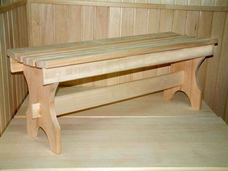 Скамейка в баню своими руками из дерева