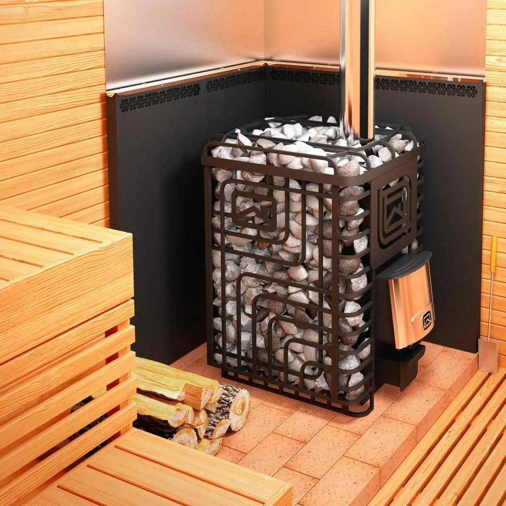 Печи для бани - все разновидности: черные и белые, дровяные, газовые, электрические, кирпичные и металлические, с каменками открытыми и закрытыми, на угле, пиролизные, из трубы и бочки, простые и сложные