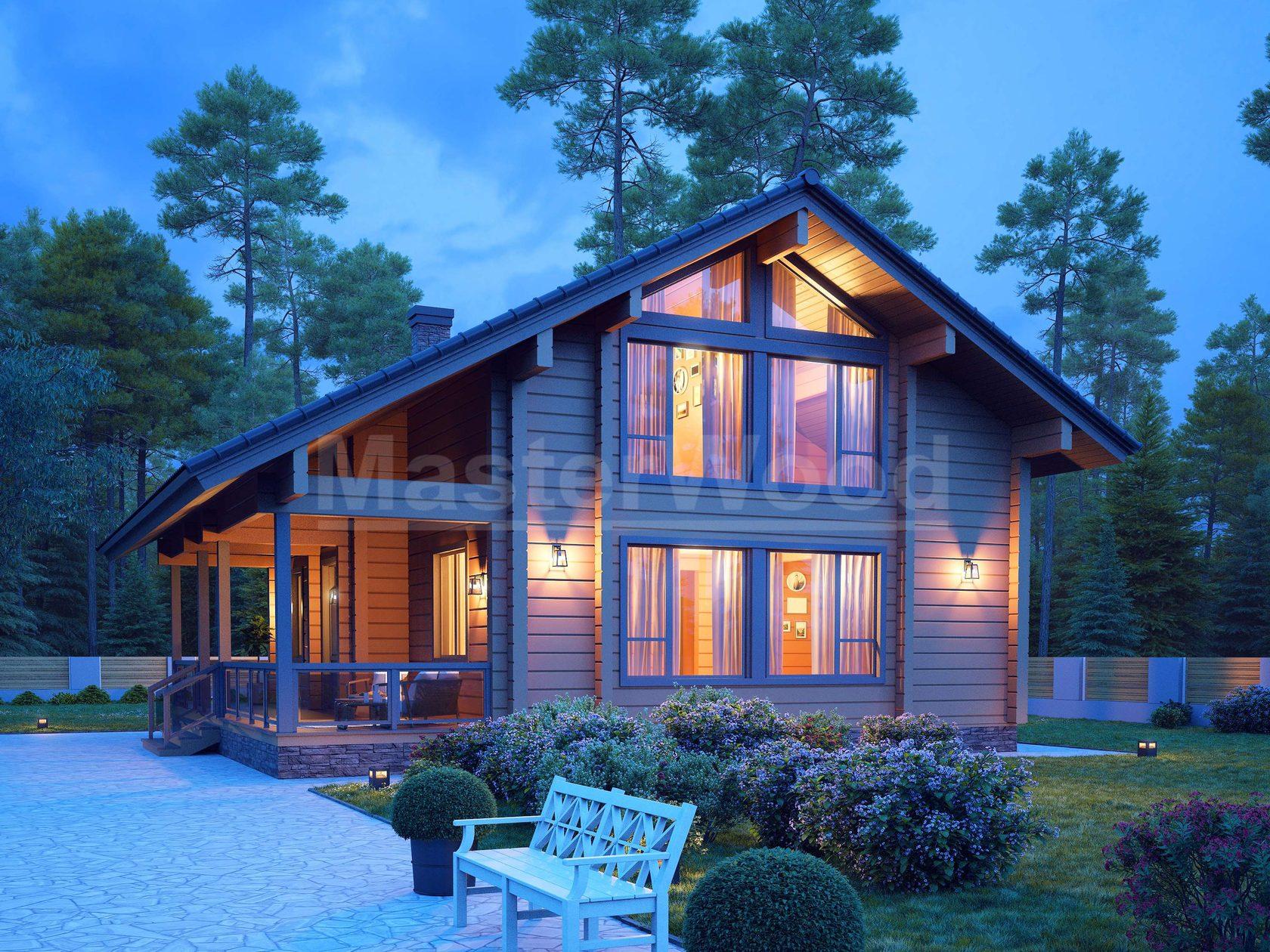 Дома из клееного бруса: проекты и цены востребованных идей