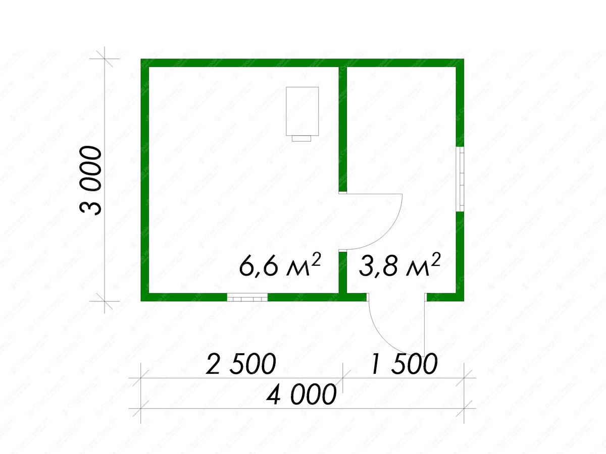 Каркасная баня своими руками — проекты с мансардой 5×4 и 3х4
