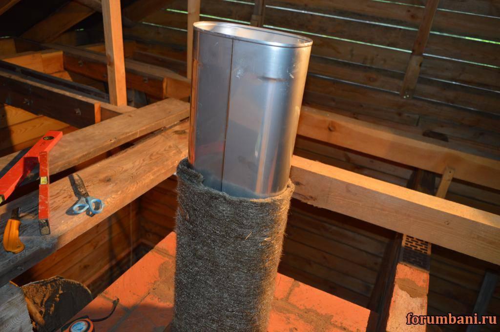 Изоляция трубы дымохода: возможные способы